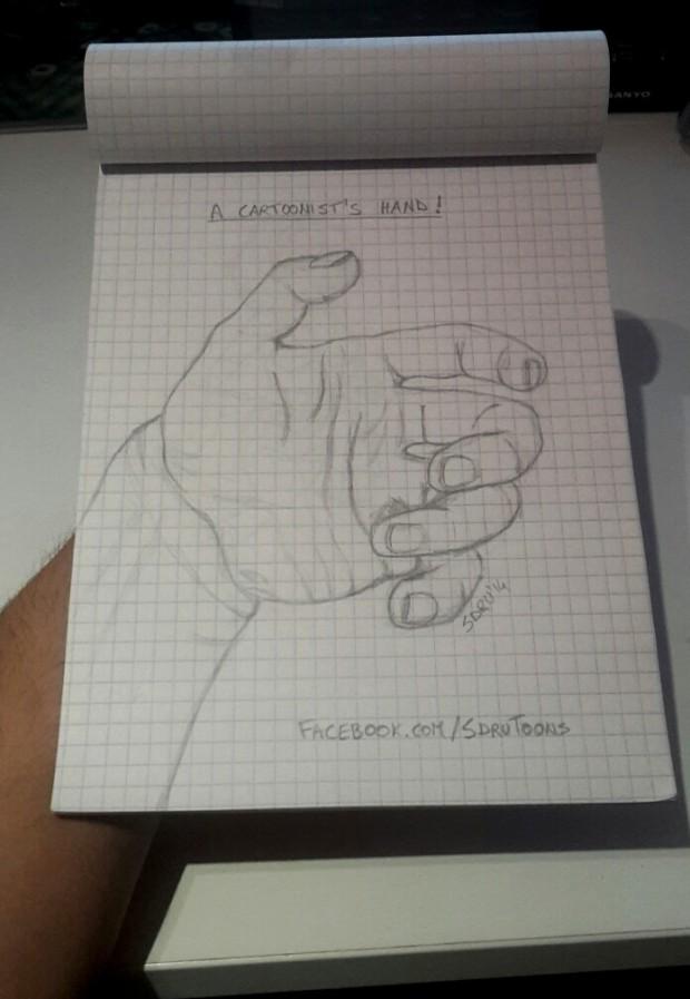 A cartoonist's hand!